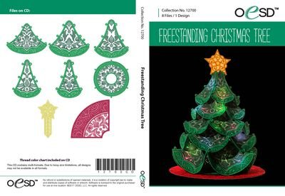 OESD Freestanding Lace Christmas Tree CD