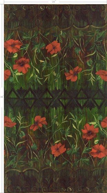Jardiniere - Poppies - Terra Cotta by Stephanie Brandenburg