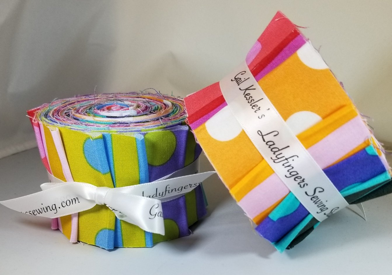Tula Pink Pom Stripes Half Strip Roll (20)  2-1/2 Strips
