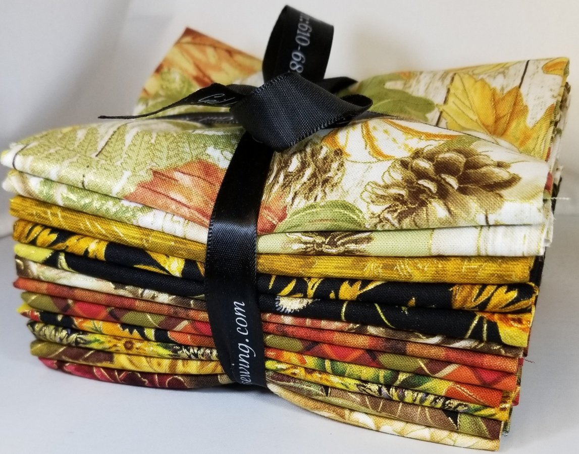 Harvest Medley Metallic Fat Quarter Bundle