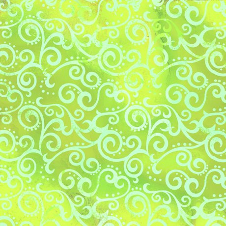 Ombre Scroll Lime