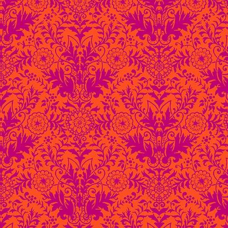Lyla Damask Orange/Fuchsia 26106-OV