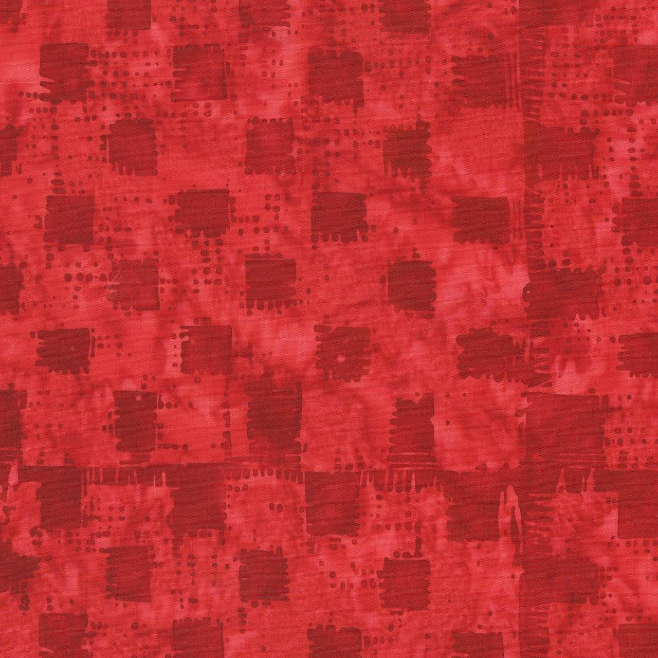 Anthology Batik Print - Gingham Heart 272Q-3