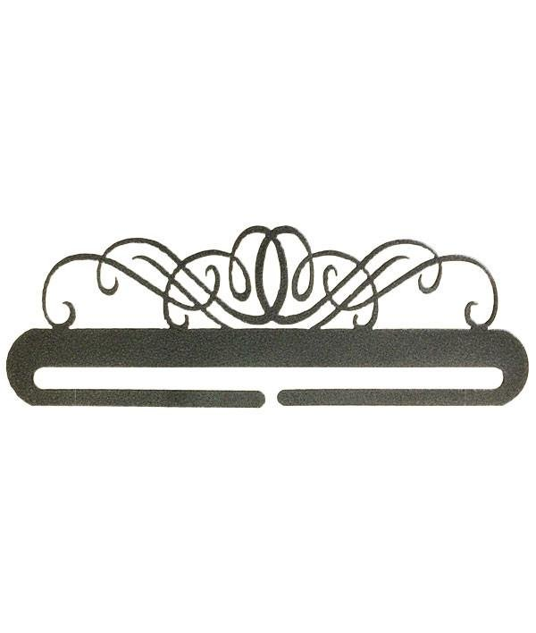 Windy Scroll Split Bottom Hanger - 9 Charcoal
