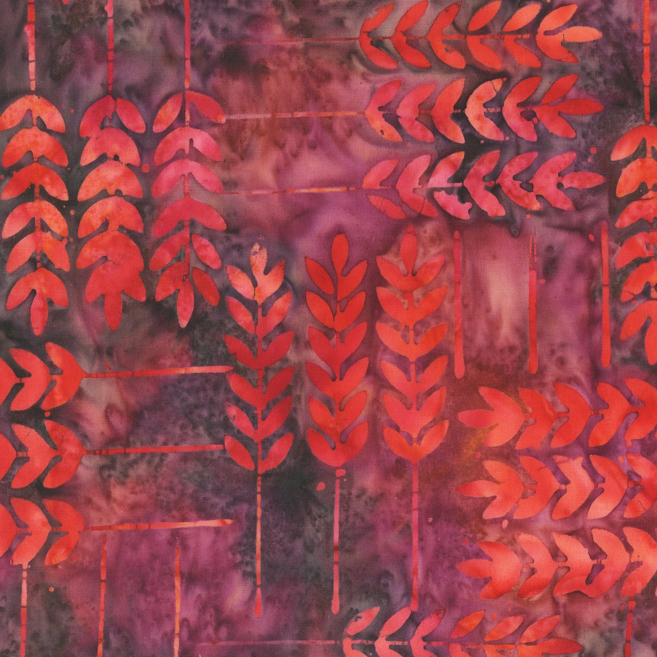 Anthology Batik Print - Allure Leaf Raspberry 325Q-1