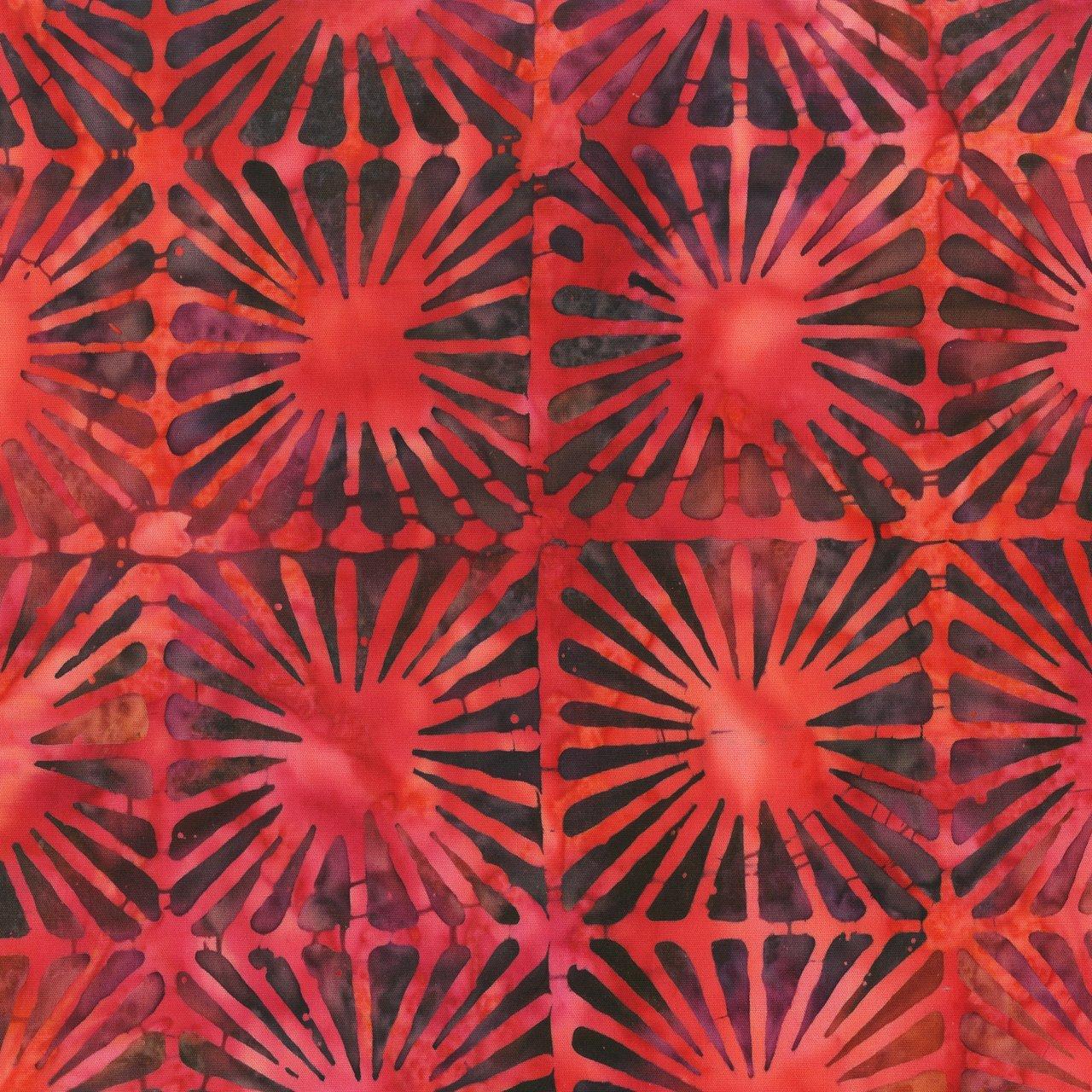 Anthology Batik Print - Magic Geo Raspberry 326Q-1