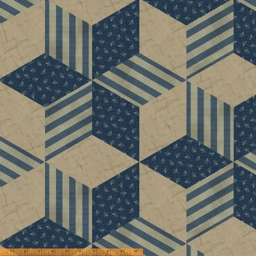 The Settlement Collection - designer cloth blue