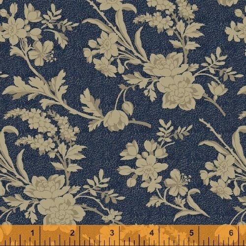 Chamberlain Indigo Mono Floral 41260-2