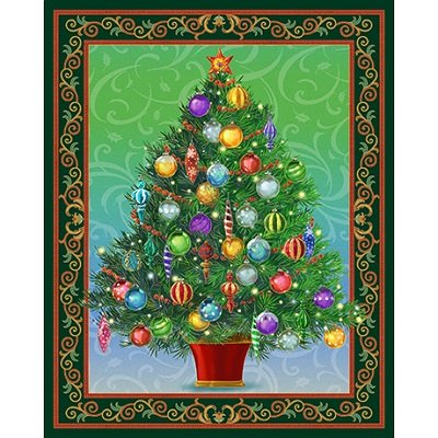 Forest Holiday Treasures 36 Panel