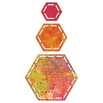 GO! Hexagon - 1 1-1/2 2-1/2 Sides (3/4 1-1/4 2-1/4 Finished