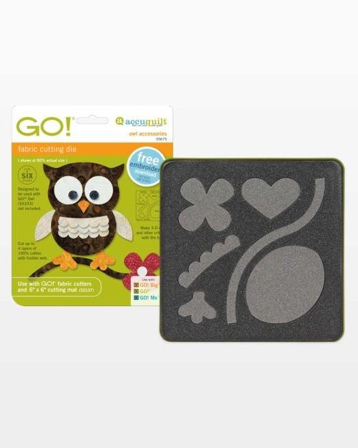 AccuQuilt GO! Owl Accessories Die