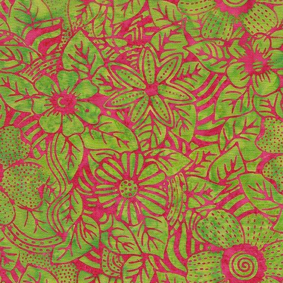 Tweet Batik 71190-1615 Flower Zebra - Lime