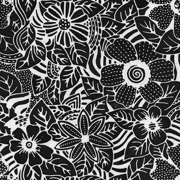 Tweet Batik 71190-1700 Flower Zebra - Salt n Pepper