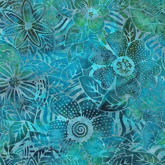 Tweet Batik 71190-1855 Flower Zebra - Cool Waters