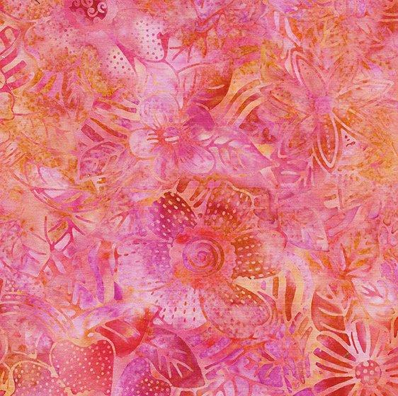 Tweet Batik 71190-1868 Flower Zebra - Sherbert