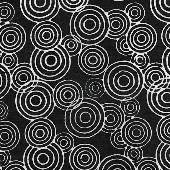 Tweet Batik 71190-6796 Circles - Black