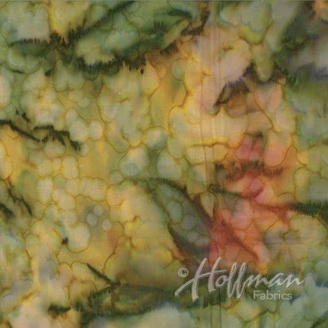 Hoffman Bali Mottles Leap Frog 839-429