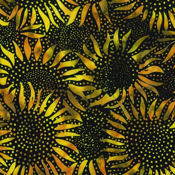 Bumblebee Sunflower - Bali Chop Hoffman Batik 884-695