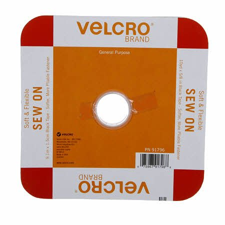 White Velcrow Soft and Flex Sew-In 5/8 wide x yd