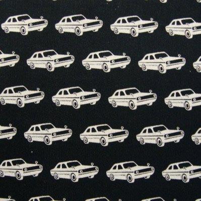 Cars (black) linen55%