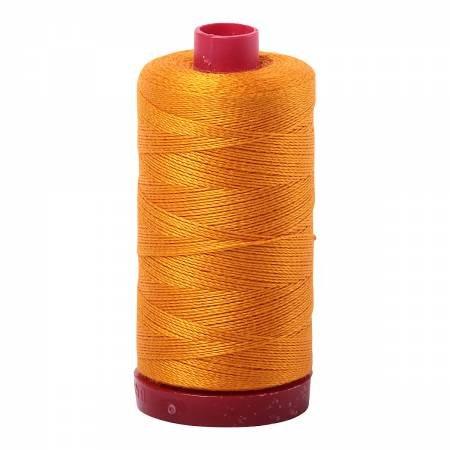 Aurifil 12wt col. 2145 Yellow Orange 356yds