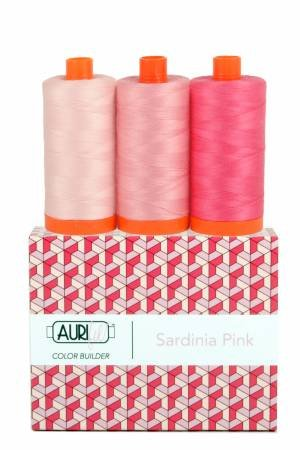 Aurifil Color Builder 3pc Set - Sardinia Pink