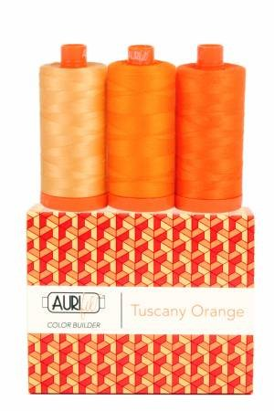 Aurifil Color Builder 3pc Set - Tuscany Orange