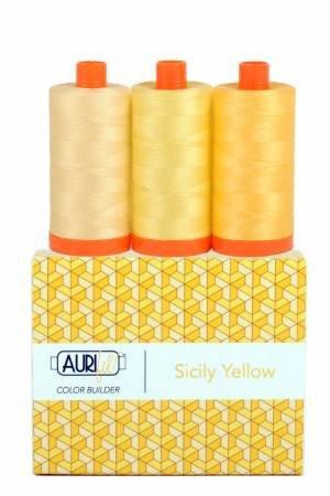 Aurifil Color Builder 3pc Set - Sicily Yellow