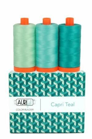 Aurifil Color Builder 3pc Set - Capri Teal