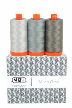 Aurifil Color Builder 3pc Set - Milan Grey