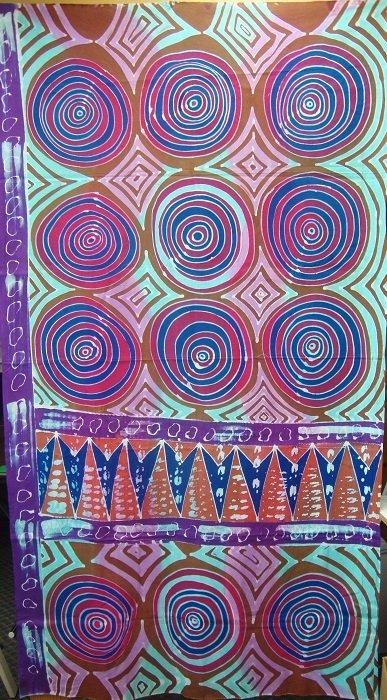 Hand-Painted Fabric [Bullseye] AP2MBE-1