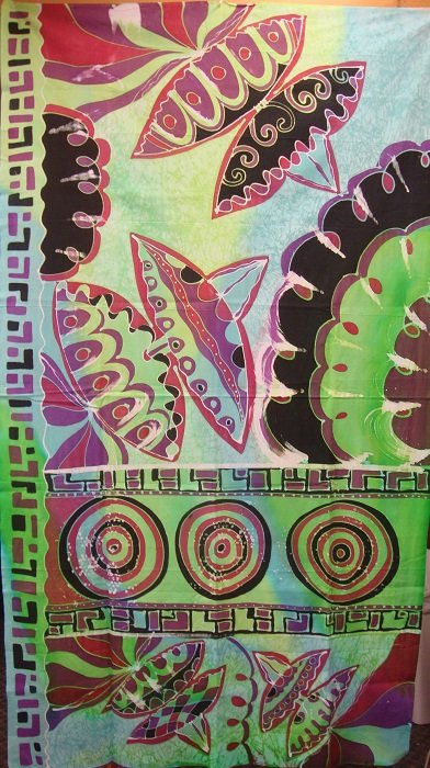 Hand-Painted Fabric [Wau Kite] AP2MWK-3