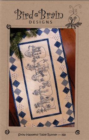 Snow Happens! Table Runner  [Machine Embroidery CD]