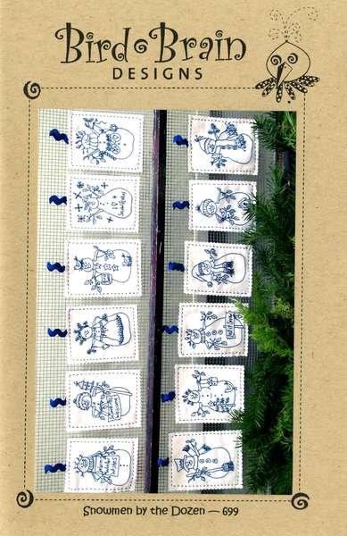 Snowmen by the Dozen Pattern [Machine Embroidery CD]