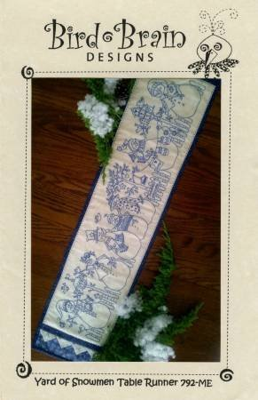 Yard of Snowmen Table Runner [Machine Embroidery CD]