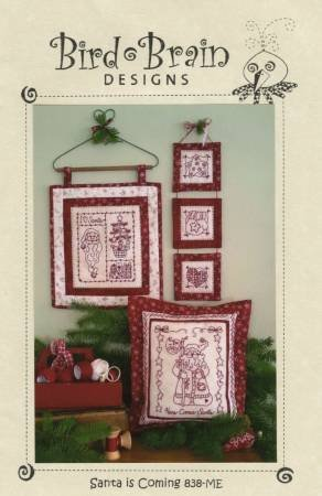 Santa is Coming Redwork [Machine Embroidery CD]