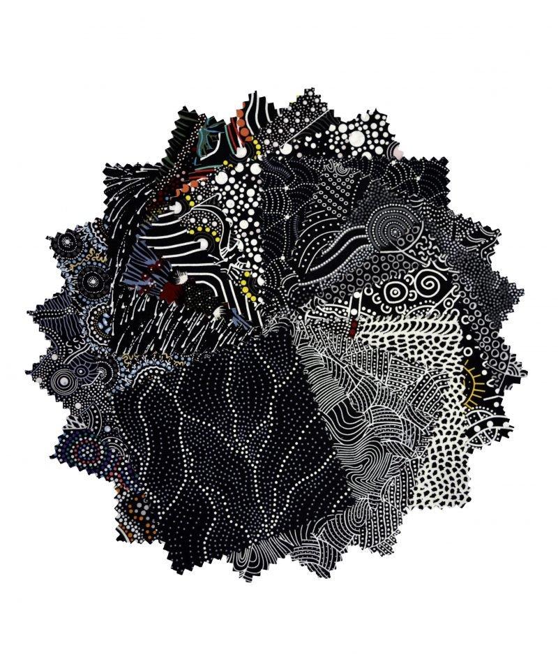 Aboriginal Dreamtime Square Pack - Black 5
