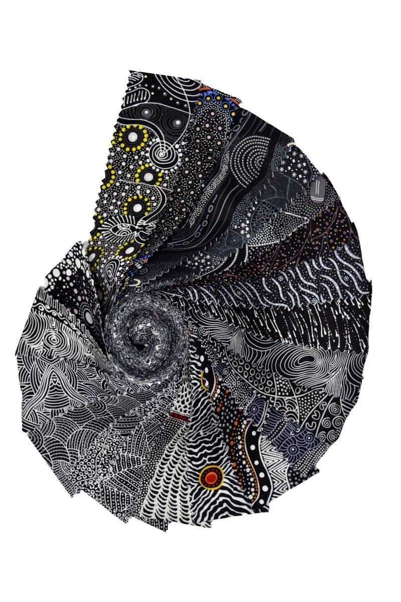 Aboriginal Dreamtime Rolls - Black 40 Strips