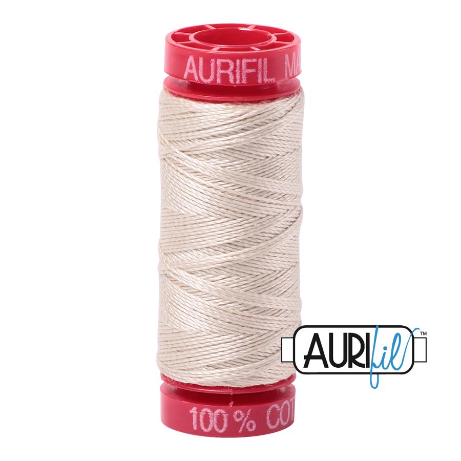 Aurifil 12wt col. 2310 Light Beige 54yds
