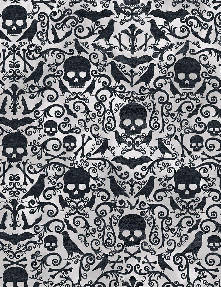 Boo Skulls Ravens Crossbones C7084-GREY