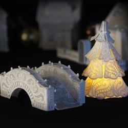 OESD Christmas Village: Bridge & Small Tree CD