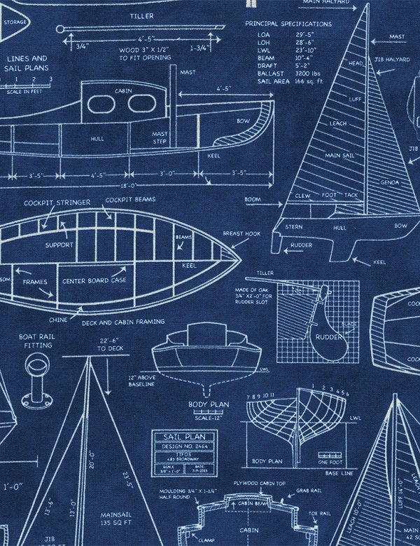 Beacon Boat Blueprints C4553-NAVY