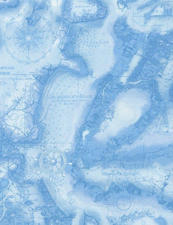 Beacon  Monotone Map C4555-BLUE