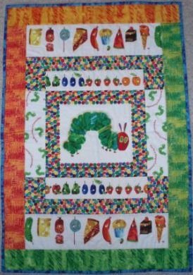 Very Hungry Caterpillar Crib Quilt Kit
