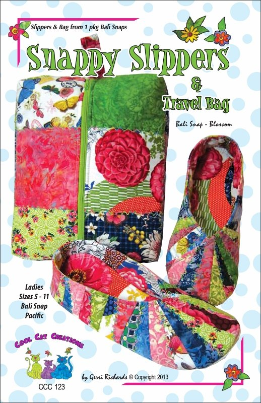 Snappy Slippers and Travel Bag Pattern