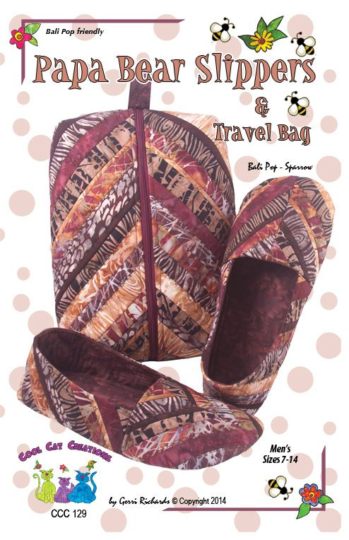 Papa Bear Slippers and Travel Bag Pattern