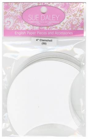 4 Paper Clamshells - English Paper Piecing