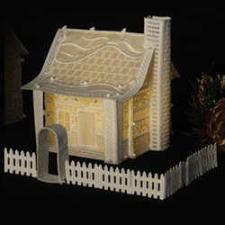 OESD Christmas Village: Cottage with Fence CD