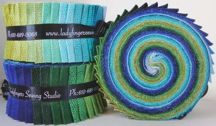 Dimples Strip Roll - Green / Blue