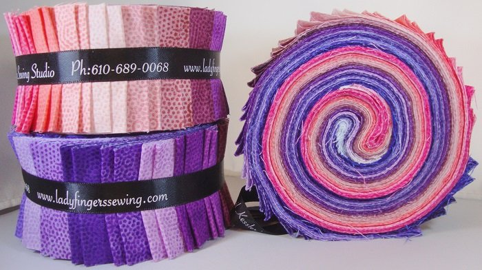Dimples Strip Roll - Pink & Purple